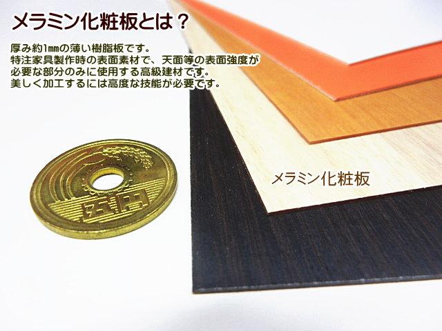 メラミン化粧板とは、メラミン化粧板には規格サイズ2種類があります。