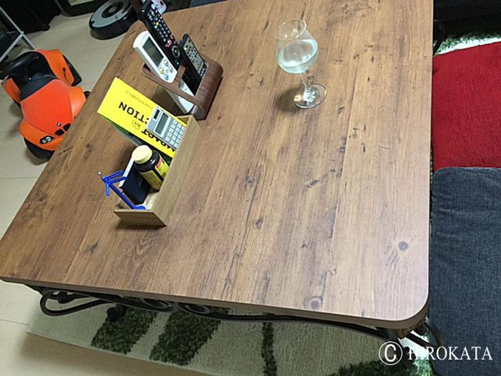 テーブル天板 パイン古木調のメラミン化粧板