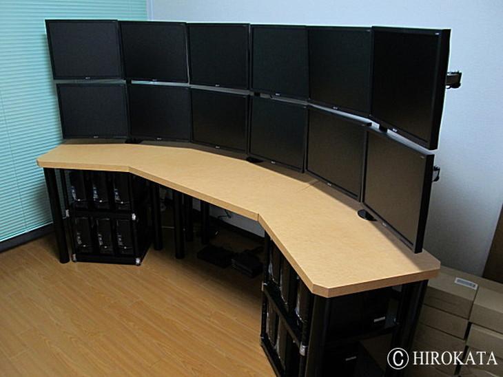 厚み30mmのデイトレードパソコンデスク天板