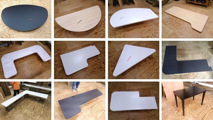 天板 曲線や楕円 三角 L字型