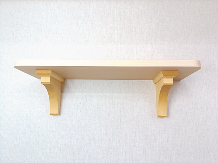新築 神棚 棚板 ヒノキ柄の化粧板