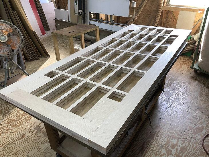 メラミン化粧板フラッシュ構造の天板、パネルのオーダーメイド加工販売