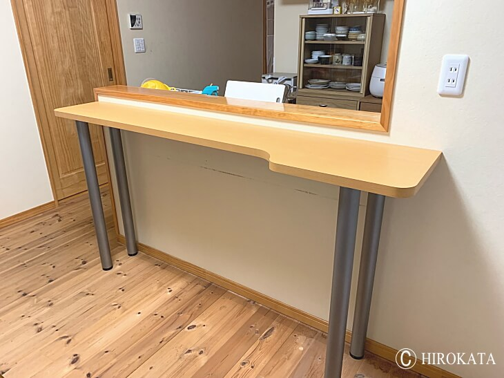 新築住宅に取り付けるカウンターテーブル