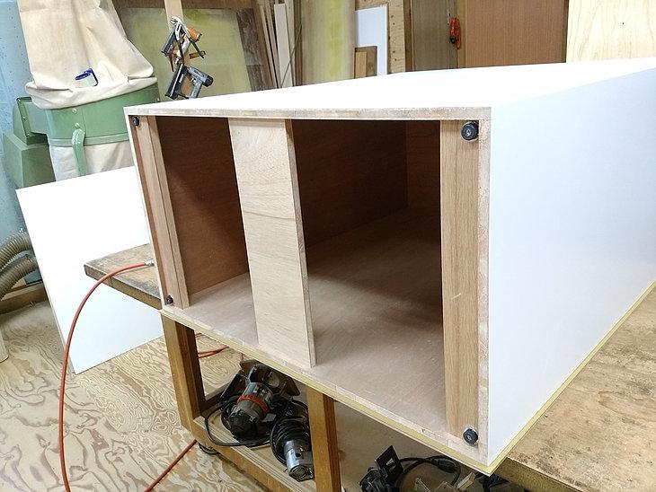 展示台 作り方(内部は丈夫な合板を使用しています。)