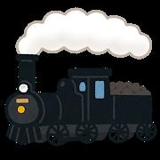 蒸気機関車のイラスト