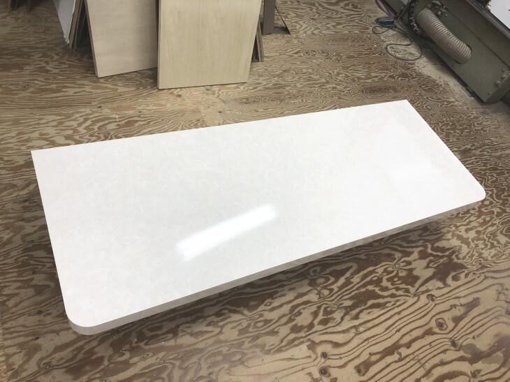 スクラッチレスの大理石調メラミン化粧板 SAL-1801KM