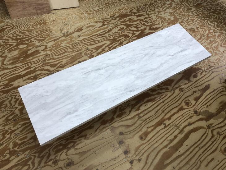 テーブル天板DIY素材の大理石調メラミン化粧板