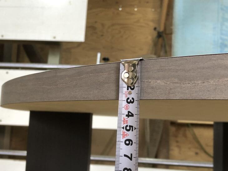 テーブル天板厚み30mmでDIY