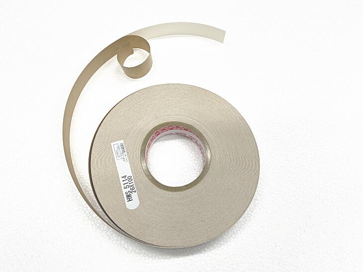 手貼り用木口テープは両面テープ式になっています。