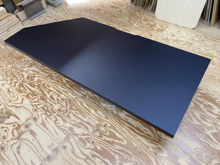 おすすめの黒いパソコンデスク天板素材【TK-6400K】