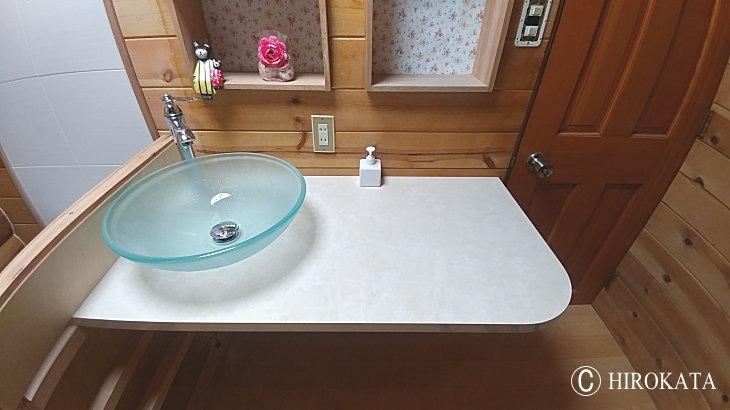 メラミン 化粧板の天板が洗面台カウンターに最適な理由
