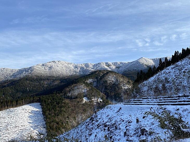 大川嶺の雪景色